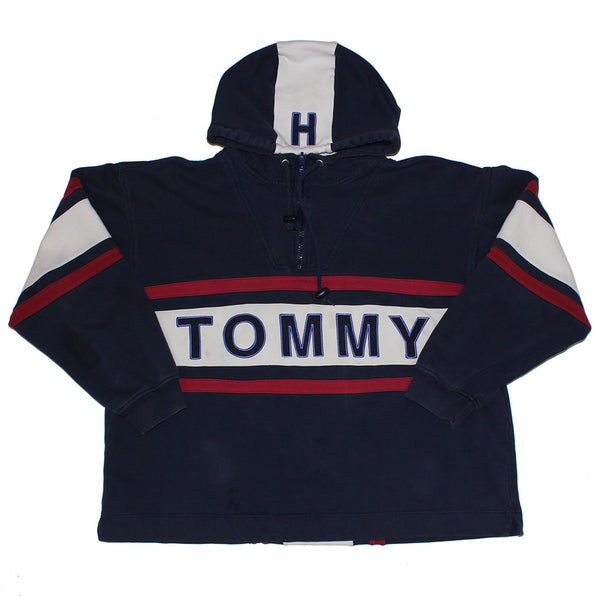 Tommy Hilfiger pullover half zip spell out (L)