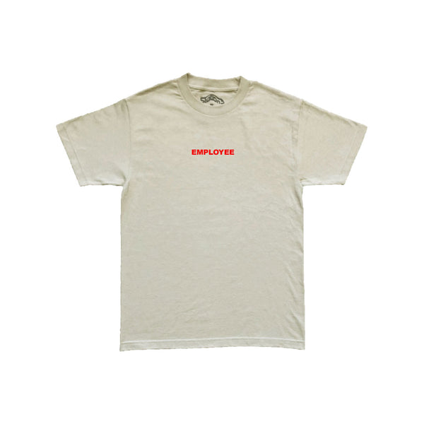 Station 'Employee' Tee Sand/Red
