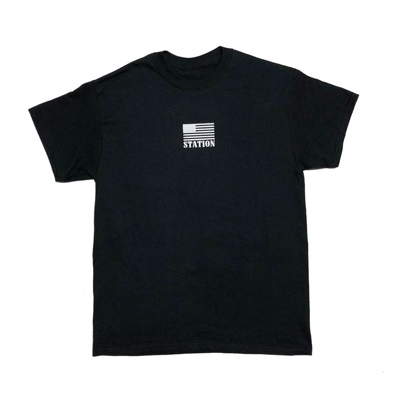 Station 'NRA' Tee BLK