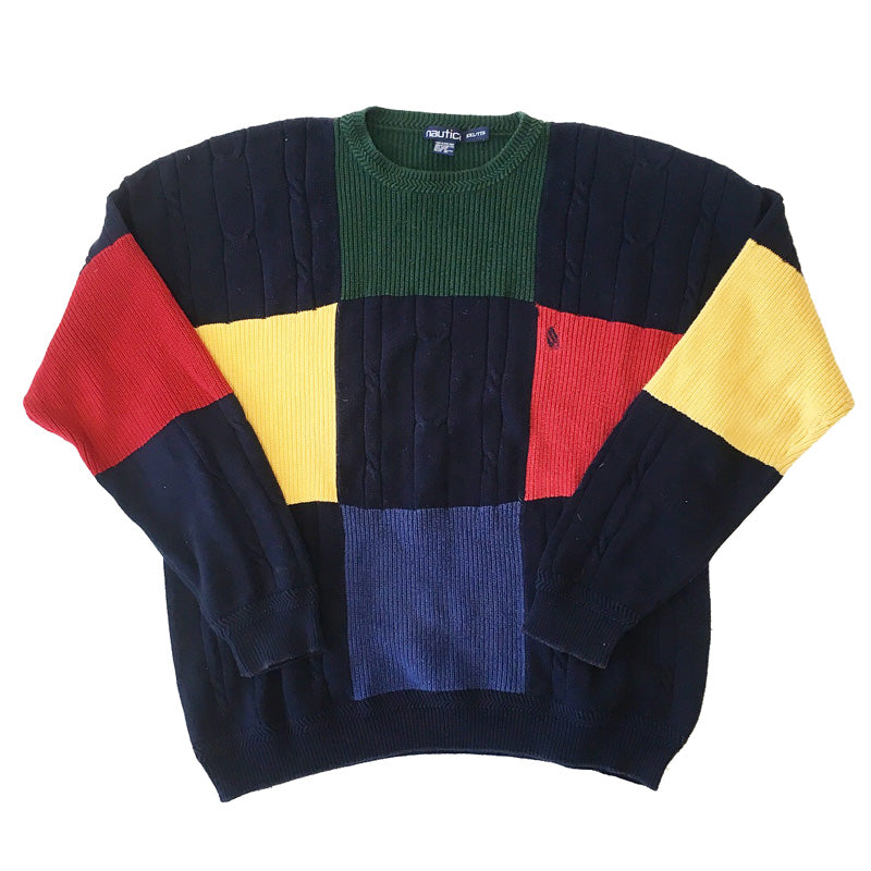 Nautica Colorblock Knit Sweater (XXL)