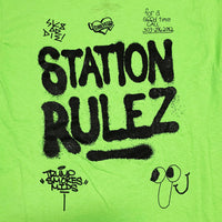 Station 'Station Rulez' Tee GRN