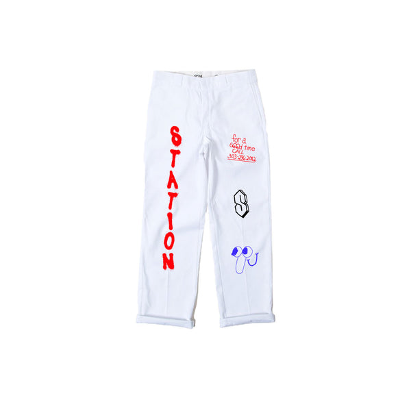 Station Work Pants White