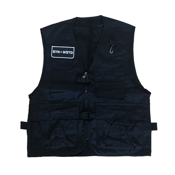 Station x Wasted Thread Utility Vest Black