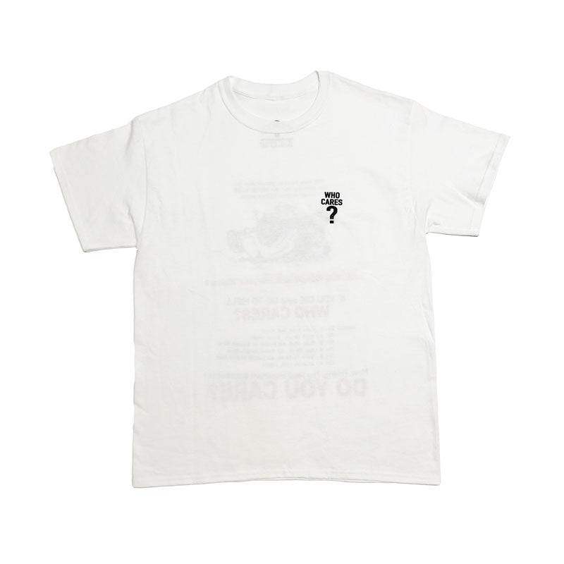 Station 'Who Cares?' Tee WHT