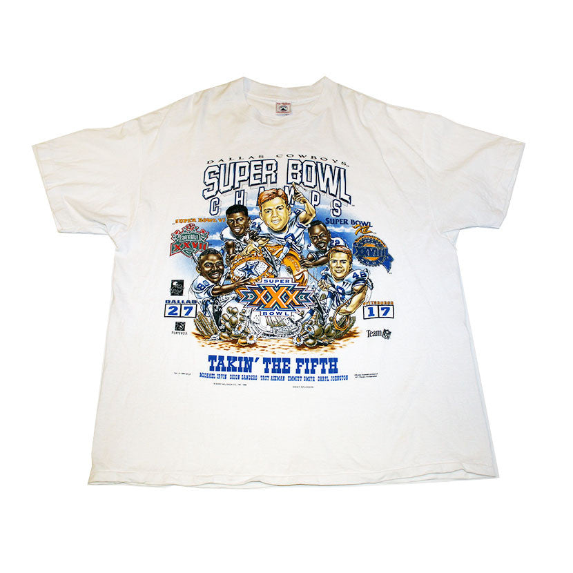 Cowboys 'Takin the fifth' Superbowl 27 character tee (L)