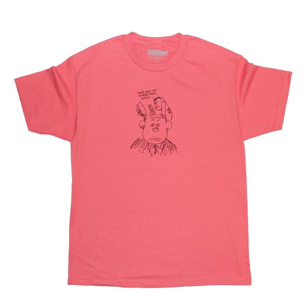 Undermine Shit For Brains Tee (Coral)
