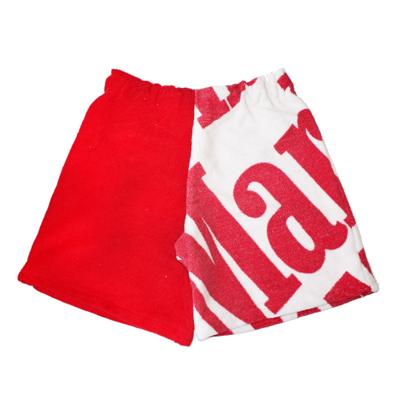 Up-cycled Marlboro Towel Shorts