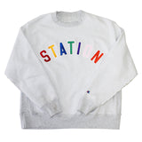 Station 'Inside-Out' Reverse Weave Sweatshirt (L)