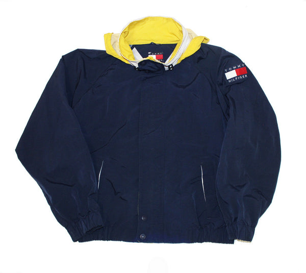 Tommy Hilfiger coat w/ packable hood (L)