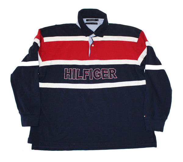 Tommy Hilfiger spellout rugby top (M)