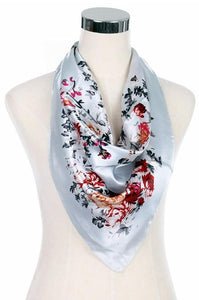 Silk Scarf Women's Fashion Pattern Large Squar Polyester Headscarf - Little N Kute Boutique
