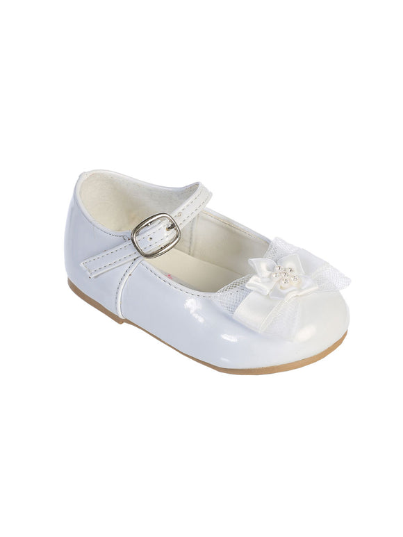 Baby White Shoes Infants Girls' w/ Bow - Little N Kute Boutique