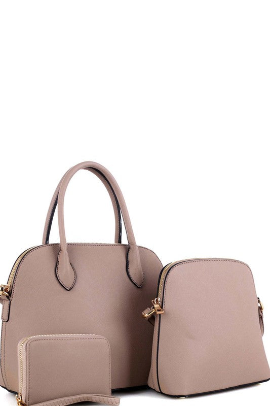 3 in 1 medium dome satchel value set - Little N Kute Boutique
