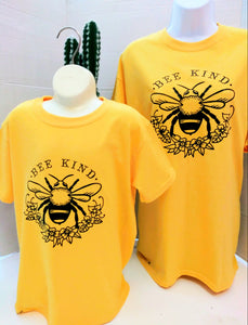 Mother and Daughter Matching T-Shirt Bee Kind Matching Set