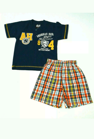 Baby Boys Shorts Set Plaid