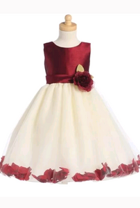 Flower Girls Dress Taffeta - Little N Kute Boutique