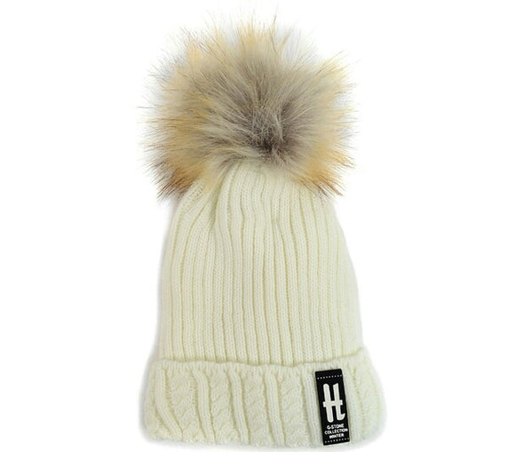 Winter Warm Wool Hat H G-Stone Collection Beanies Women's and Kids  Warm Caps - Little N Kute Boutique