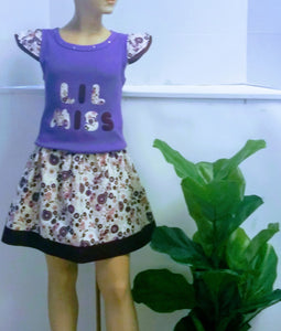 Copy of Girl's 2pc Set Toddler With Matching Skirt  Size 3 T - Little N Kute Boutique