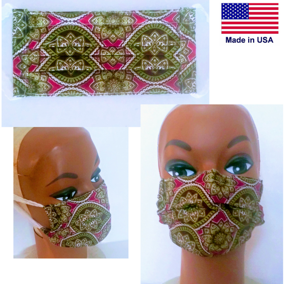 Reusable Adult Fabric Mask - Little N Kute Boutique