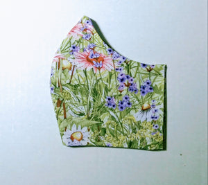 Floral Cotton Fabric Mask - Washable & Reusable - Little N Kute Boutique