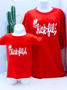 Mother and Daughter Matching Shirts Thick-fil-a Matching Set