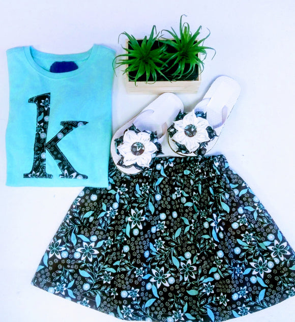 Girl's 2-piece Skirt  Set