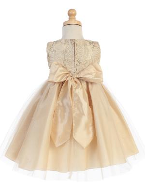 cc52df6adee1f ... Silver Corded Tulle Bodice w/ Shiny Tulle Holiday / Christmas Girls'  Dress - Little