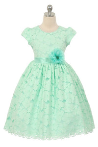 GOOD GIRL LITTLE GIRLS FLOWER GIRL DRESS - Little N Kute Boutique