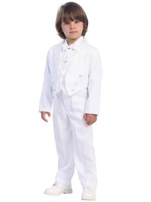 Boys Communion Suit/ 5 pc Boy Jacket   Suits Size 3M-7Y - Little N Kute Boutique
