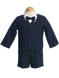 Eton and Shorts Style G740  Navy Jacket  Shorts  Set - Little N Kute Boutique
