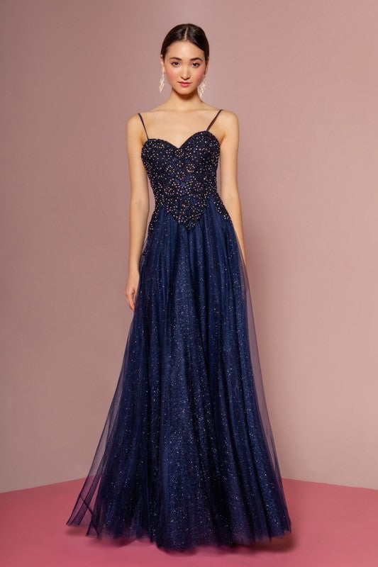 Beaded Ball Gown - Little N Kute Boutique