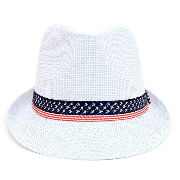Women's 4th of July Fedora Hat - Little N Kute Boutique