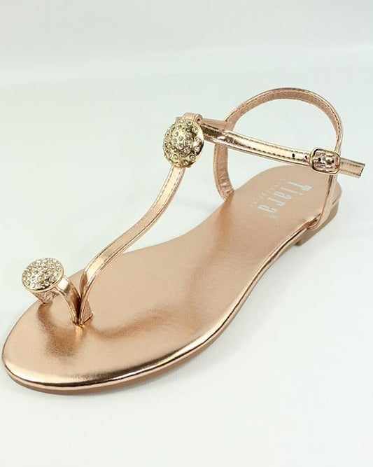 Rose Gold Tiara Women's Sandals - Little N Kute Boutique