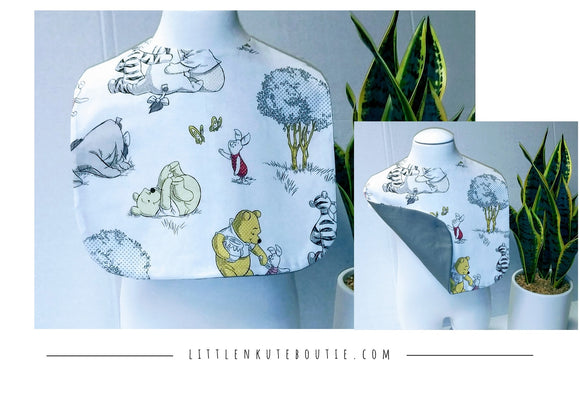 Boutique Style Baby Reversible Bib Handmade - Little N Kute Boutique