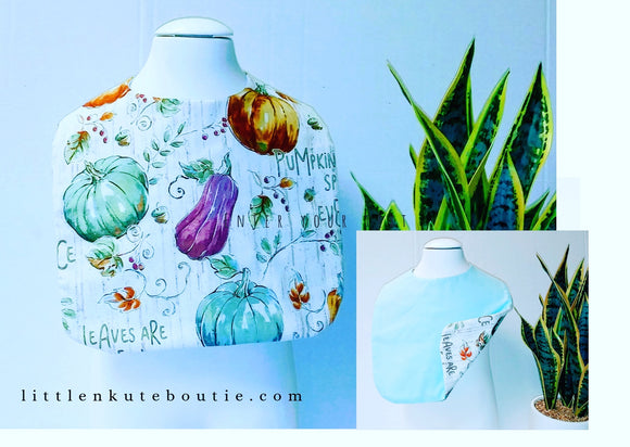 Handmade Boutique Style Baby Reversible Bib - Little N Kute Boutique