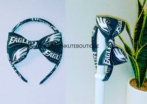 Interchangeable  Headband w/ Matching Bow - Little N Kute Boutique