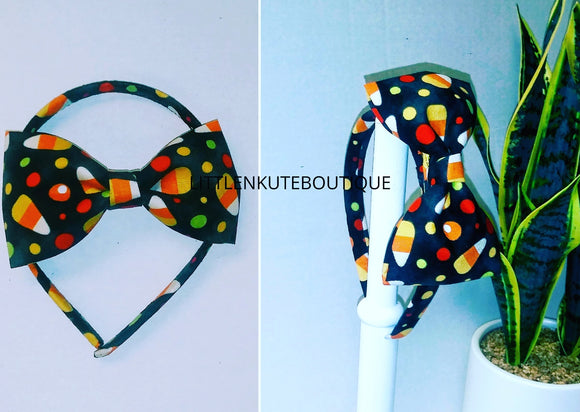 Interchangeable  Candy Cone Headband w/ Matching Bow - Little N Kute Boutique