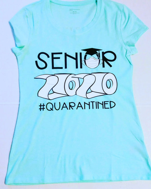 Senior 2020 Quarantine T-shirt -Class of 2020 Shirts with Toilet Paper