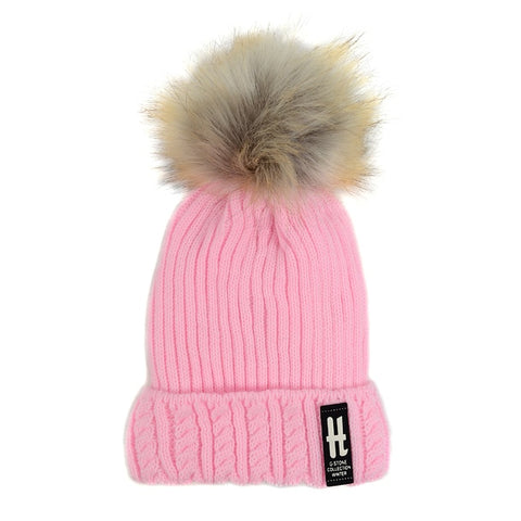 Winter Warm Wool Hat H G-Stone Collection Beanies Women's and Kids  Warm Caps