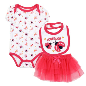 WEEPLAY Girls Newborn 3PC Tutu Set - Little N Kute Boutique