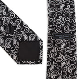 Men's Paisley Tie & Matching Pocket Round  Handkerchief /Hanky Set - Little N Kute Boutique