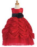 Red Flower Girls  Dresses