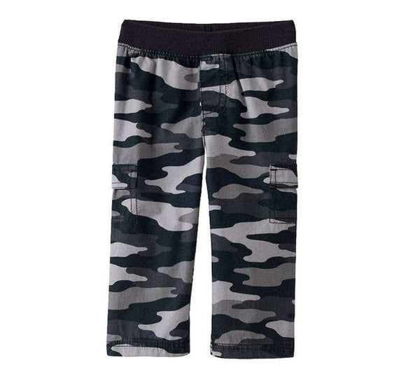 Boy's Pants Camouflage Cargo