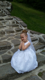 Flower Girl Dress Shantung Bodice w/ Tulle Skirt