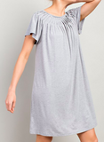 Pleated Neckline Shift Dresses For Women - Little N Kute Boutique