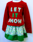 Girl's 2-piece Christmas Outfit - Little N Kute Boutique
