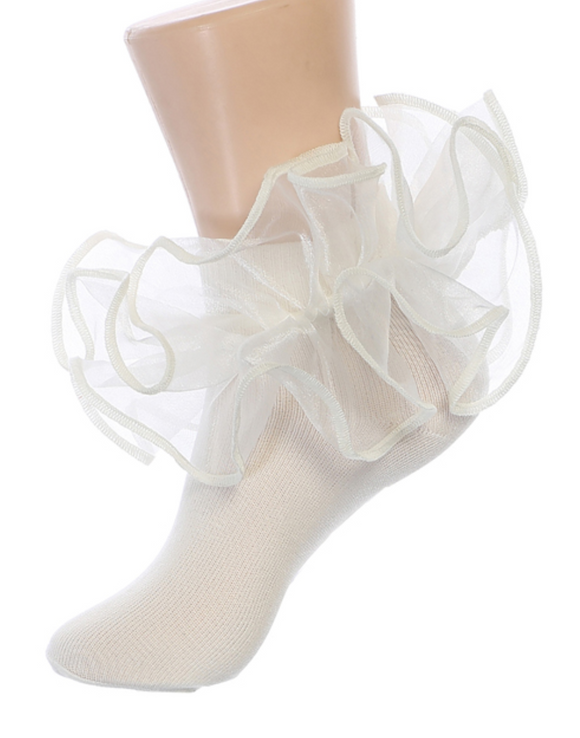 Girls Double Ruffle Socks - Little N Kute Boutique