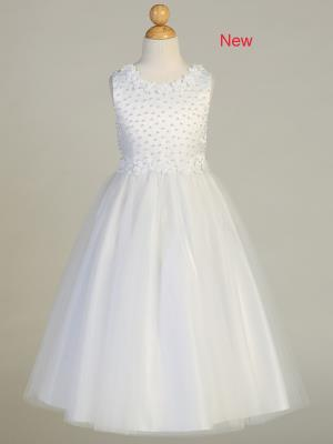 Girls Holy First Communion Dress - Little N Kute Boutique