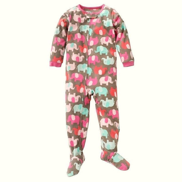 Baby Girl's Sleep and Play Footed Pajamas Cotton Footed Sleeper - Little N Kute Boutique