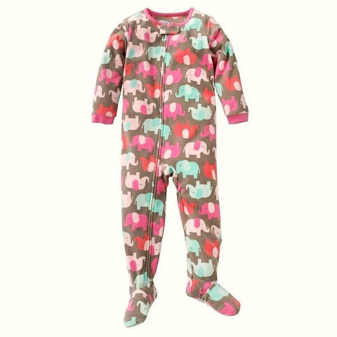 Baby Girl's Sleep and Play Footed Pajamas Cotton Footed Sleeper